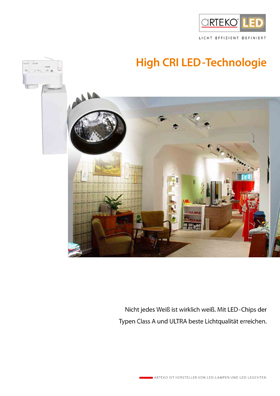 Cover High CRI LED-Technologie