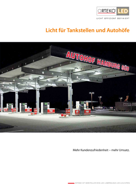 Cover Licht für Tankstellen und Autohöfe